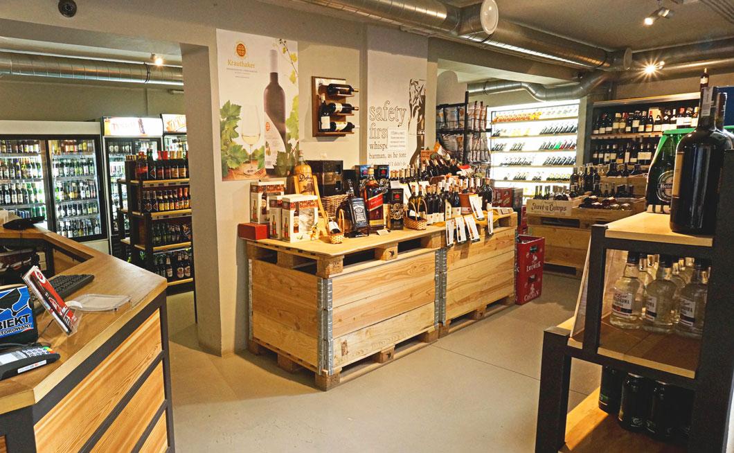 meta spirit and wine store zdjecia wnetrza sklepu