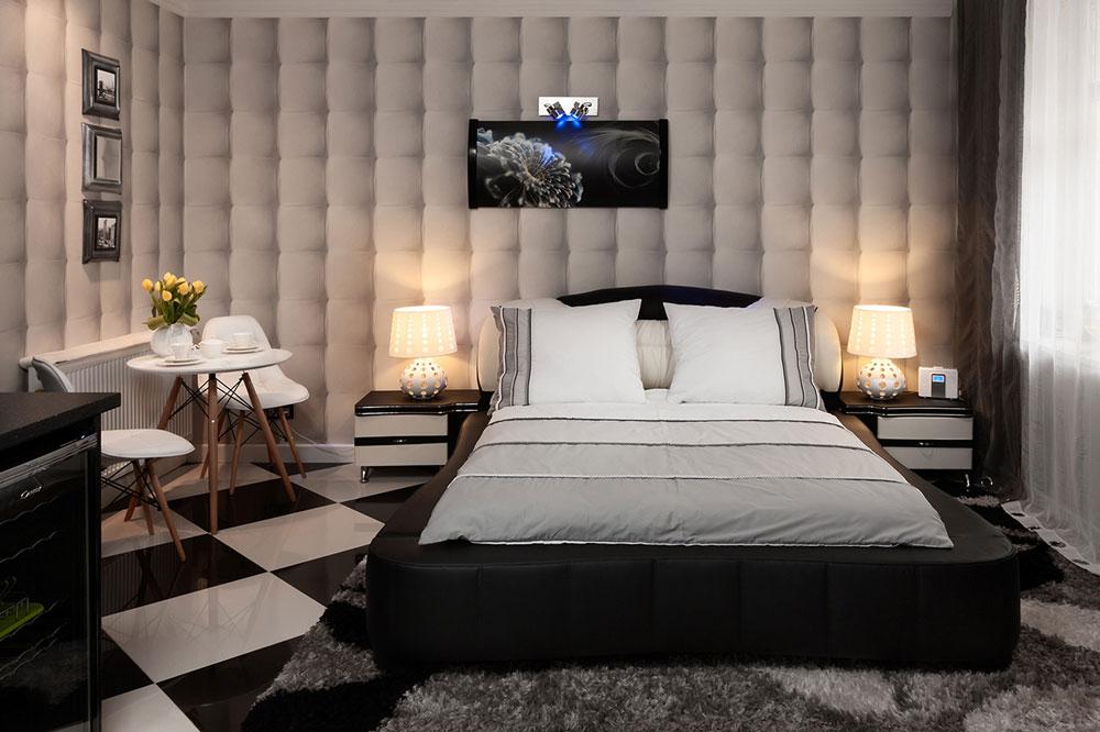 zdjęcie pokoju we wnętrzu apartamentu czarno-białego
