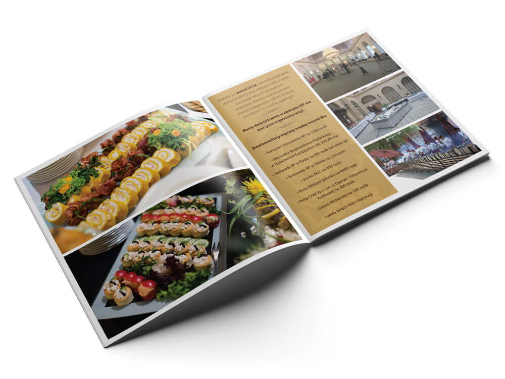 projekt folderu firmowego na catering