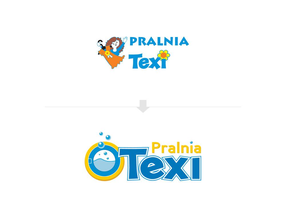 Redesign logo Pralni Texi