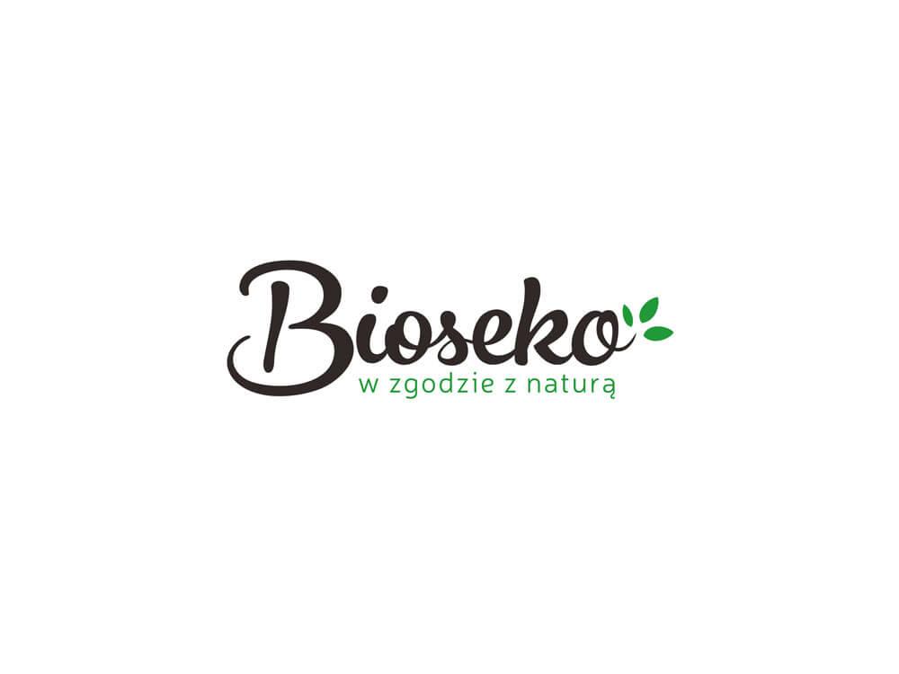 projekt logo sklepu bioseko ze zdrową zywnością